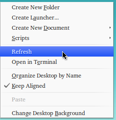 refresh menu ubuntu